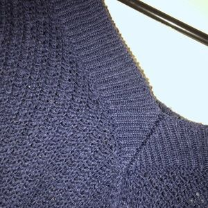 aerie Sweaters - Aerie Blue Knit V-Neck Sweater